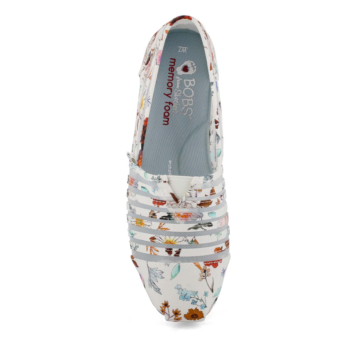 Lds BobsPlush DaisyDarling wt/mlt slipon