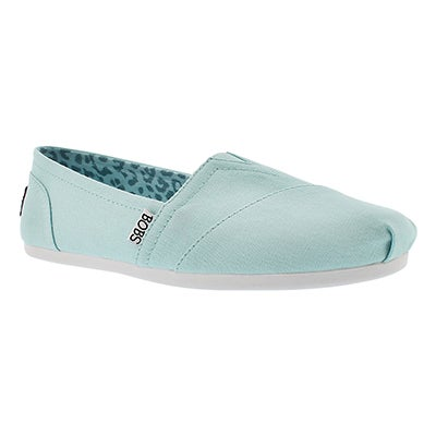 Skechers Women's Bobs PLUSH PEACE&LOVE light blue slip ons