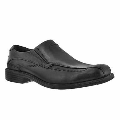 Clarks Men's MEDINA black leather slip-on dress shoes