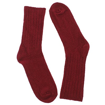 Duray Women's DURAY burgundy 3/4 crew socks