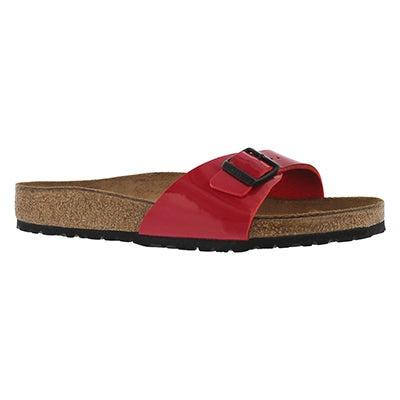 Lds Madrid tango red BF 1 strap sandal