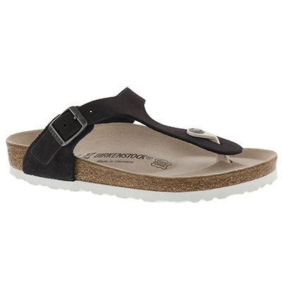Birkenstock Women's GIZEH charcoal thong sandals