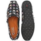Lds Bobs Plush Kitty Smarts blk slip on
