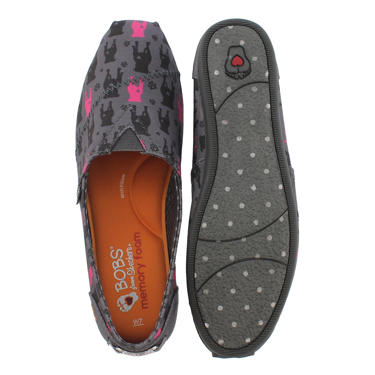 Lds Bobs Plush Gentle Giant gry slip on