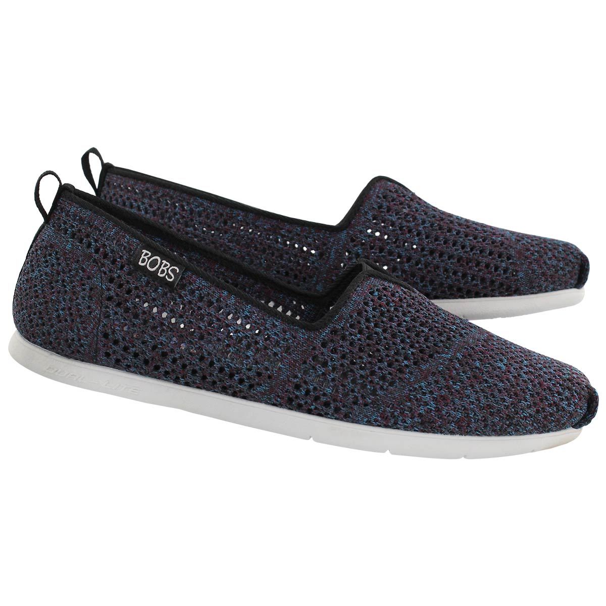 Lds Bobs Plush Lite Be Cool blk slipon
