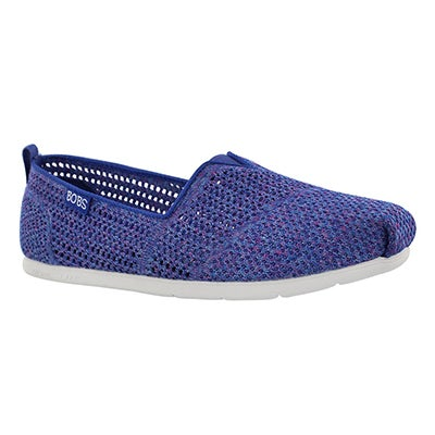 Lds Bobs Plush Lite Be Cool blue slipon