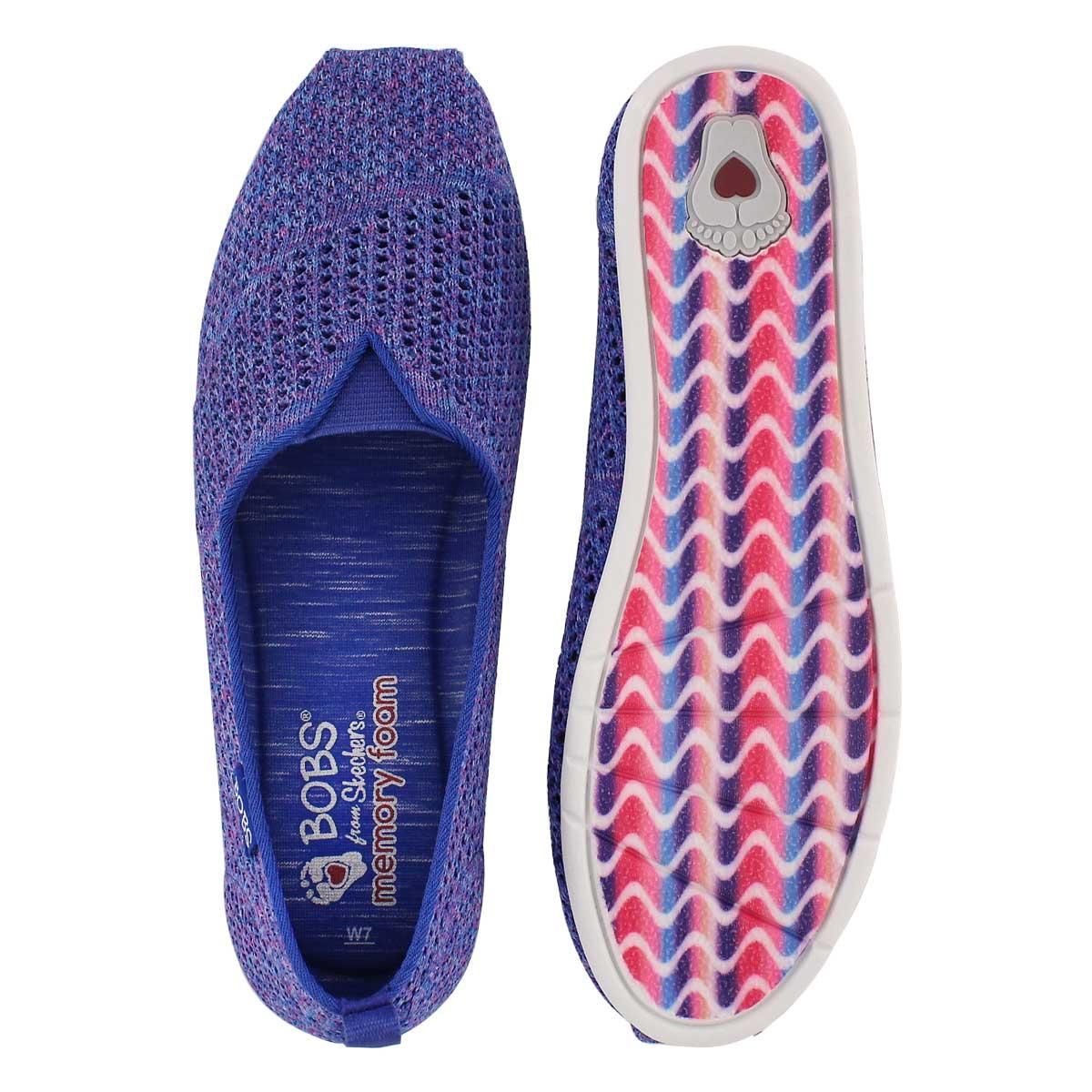 Lds Bobs Plush Lite Be Cool blue slipon