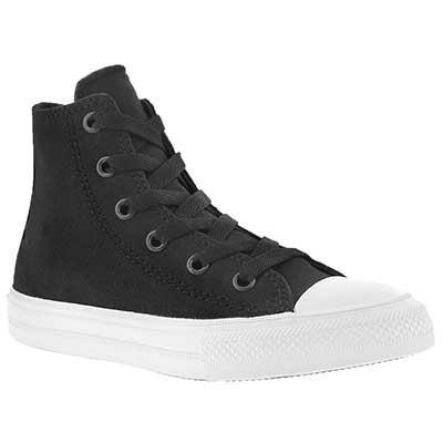 Converse Kids' CHUCK II VIZ FLOW black high tops