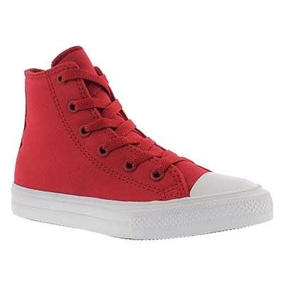 Converse Kids' CHUCK II VIZ FLOW red high tops