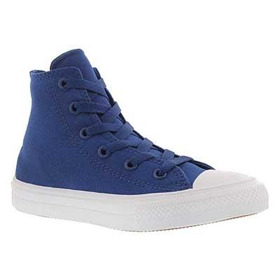 Converse Kids' CHUCK II VIZ FLOW light blue high tops