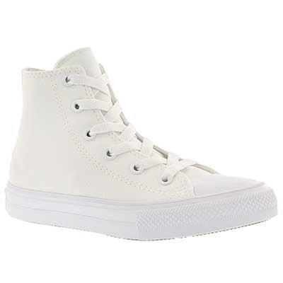 Converse Kids' CHUCK II VIZ FLOW white high tops