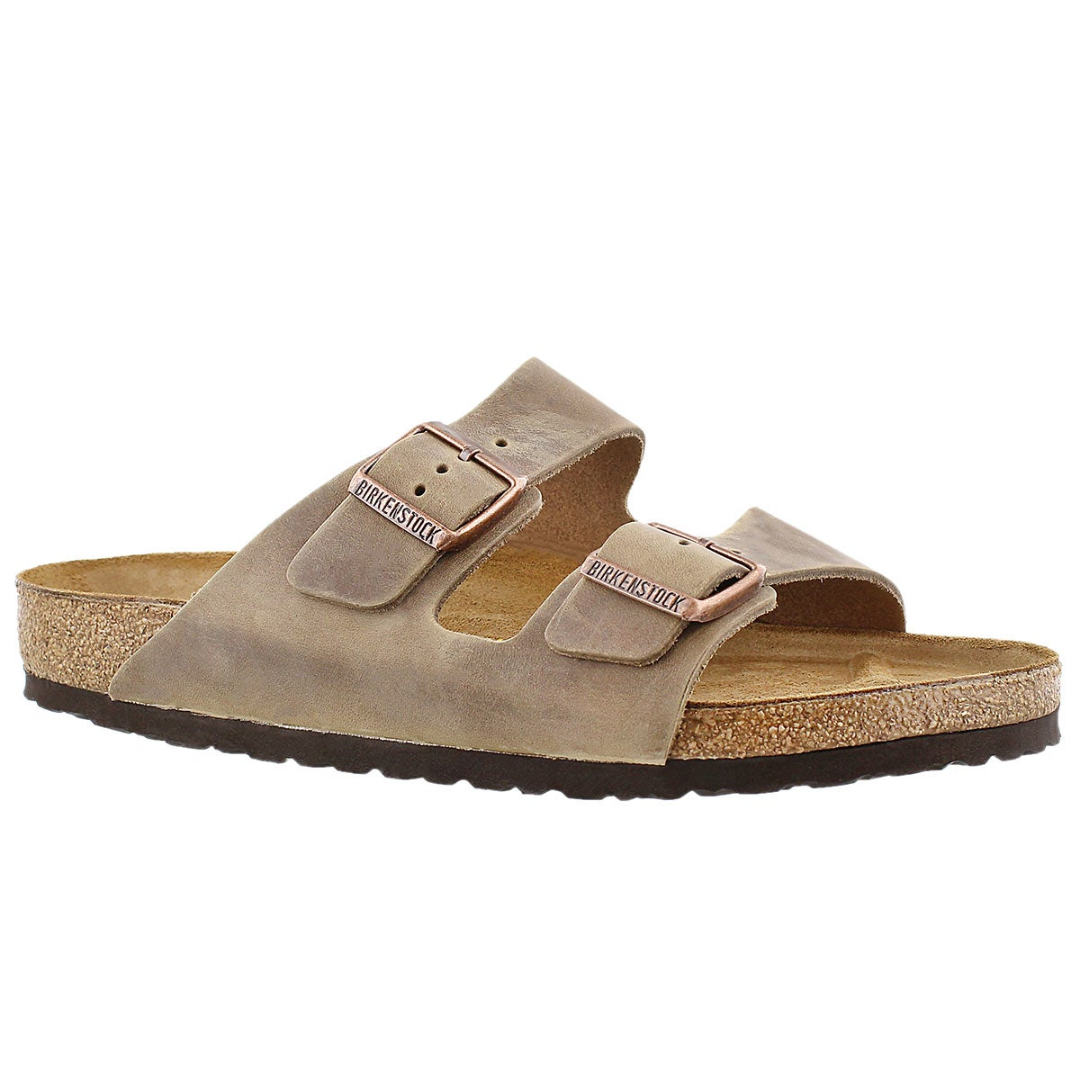 Men's ARIZONA tobacco 2 strap sandals