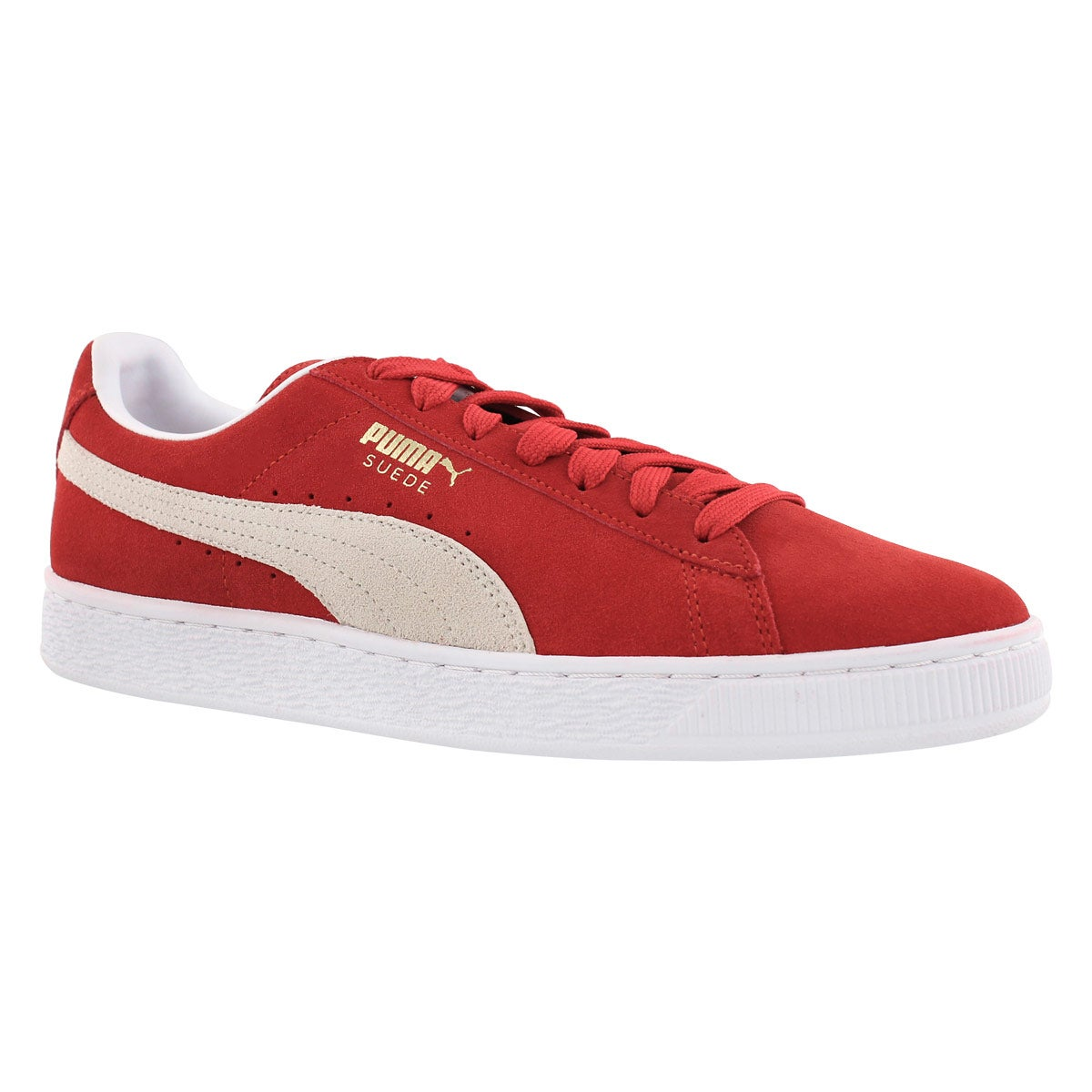 Men's SUEDE CLASSIC + red/wht sneakers