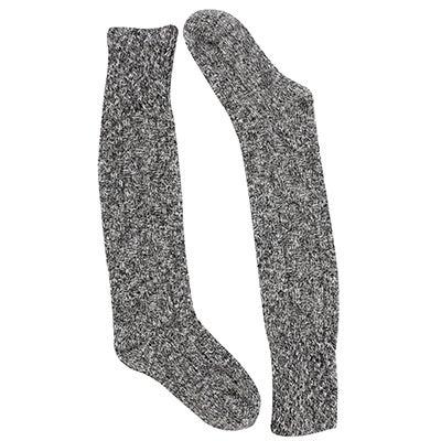 Duray Chaussette haute,DURAY,tricot torsadé,noir,femmes