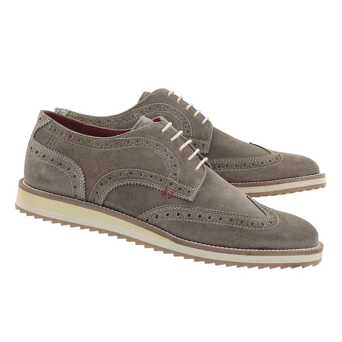 Mns Sven 01 taupe casual oxford
