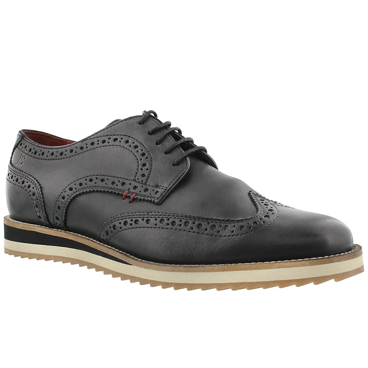 Mns Sven 01 black lthr casual oxford
