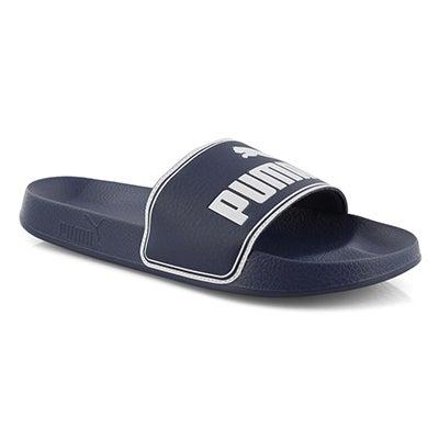 Mns Leadcat nvy/wht sport slide sandal