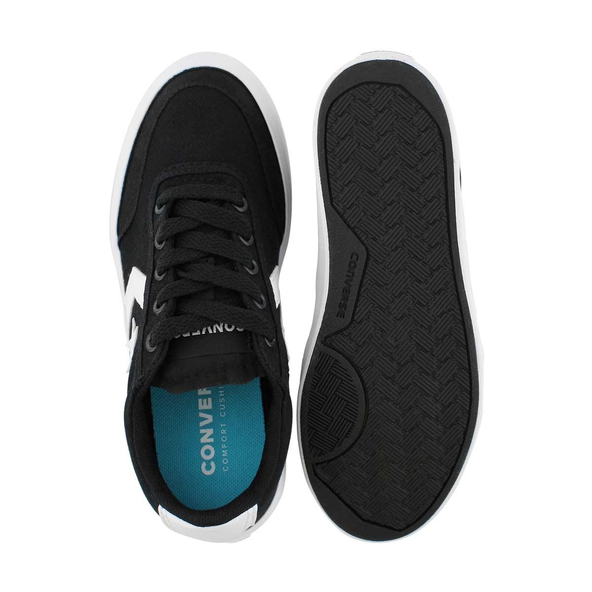 Bys Courtlandt blk/wht laceup sneaker