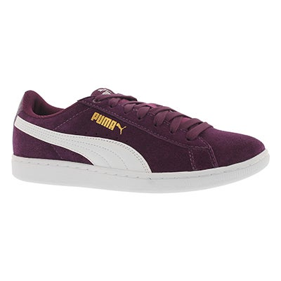 Lds Puma Vikky dk purple/white sneaker
