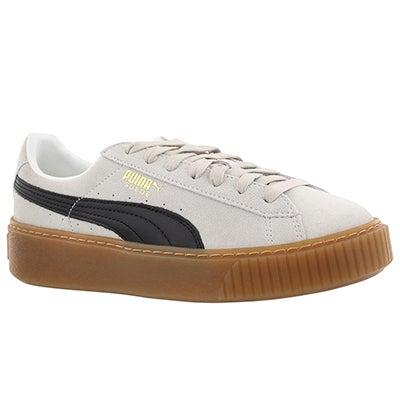 Lds Platform Core wht/blk sneaker