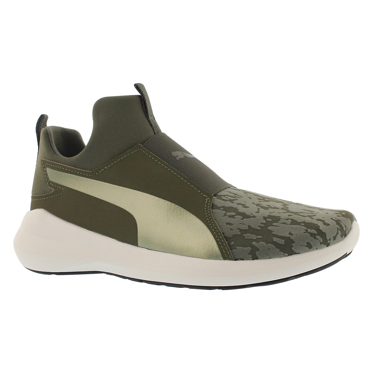 Women's REBEL MID VELVET ROPE olive sneakers
