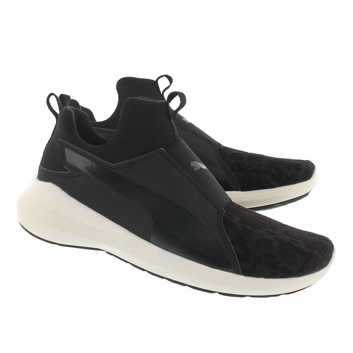 Lds RebelMidVelvetRope black slipon snkr