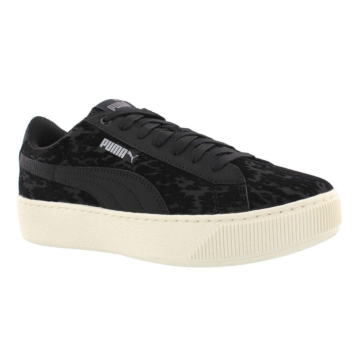 Women's VIKKY PLATFORM VELVET ROPE blk sneakers