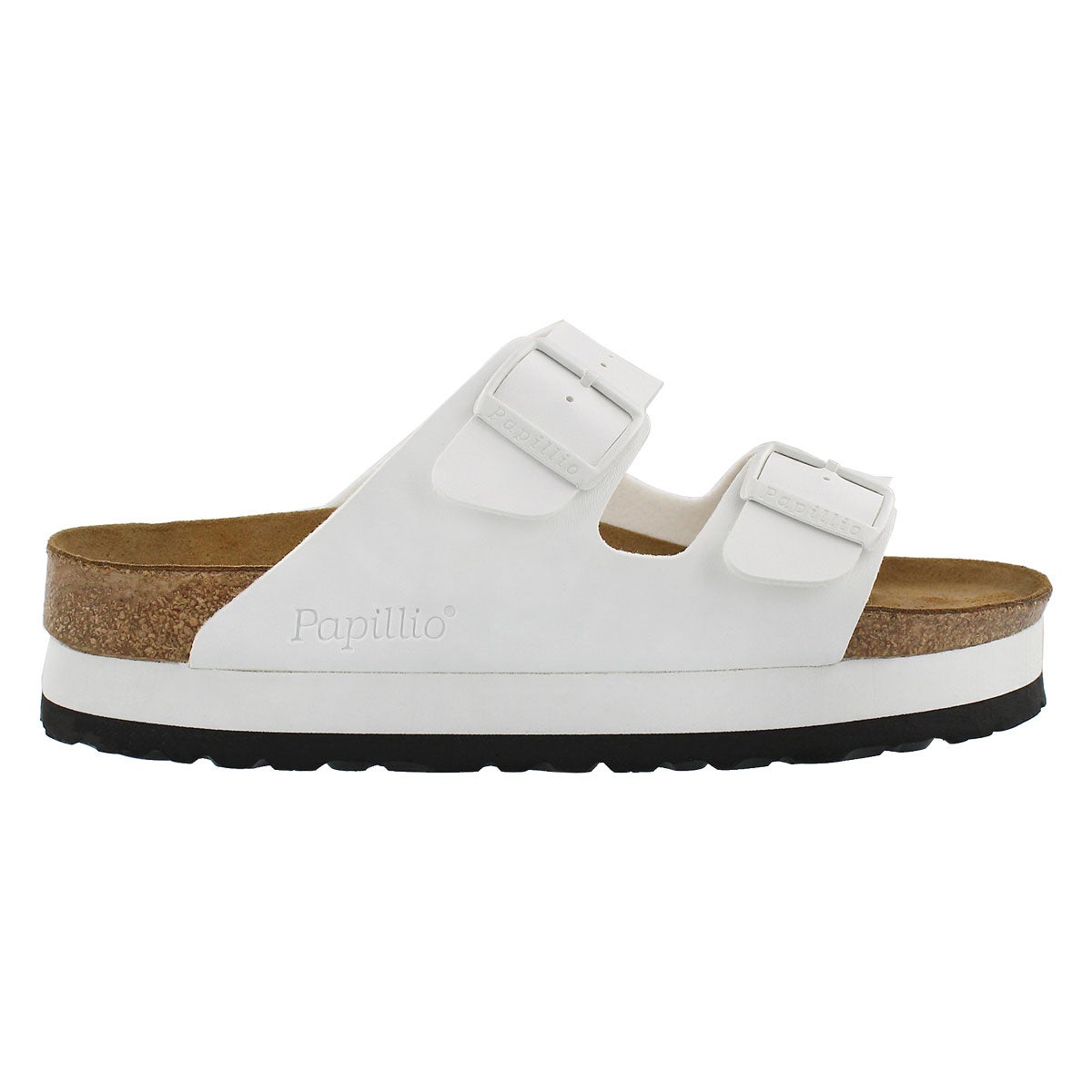 Lds Arizona Platform wht sandal - Narrow