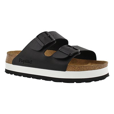 Birkenstock Women's ARIZONA platform black sandals - Narrow