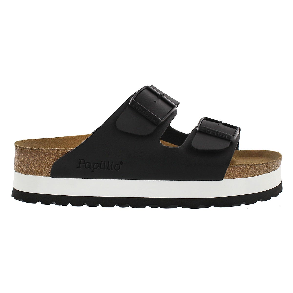 Lds Arizona Platform blk sandal - Narrow