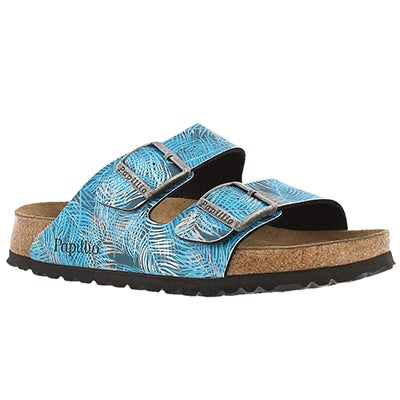 Birkenstock Women's ARIZONA SF tropical blue sandals -Narrow
