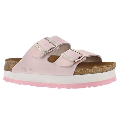 Birkenstock Women's ARIZONA rose platform sandals-narrow