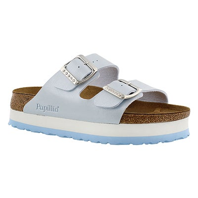 Birkenstock Women's ARIZONA blue platform sandals - Narrow
