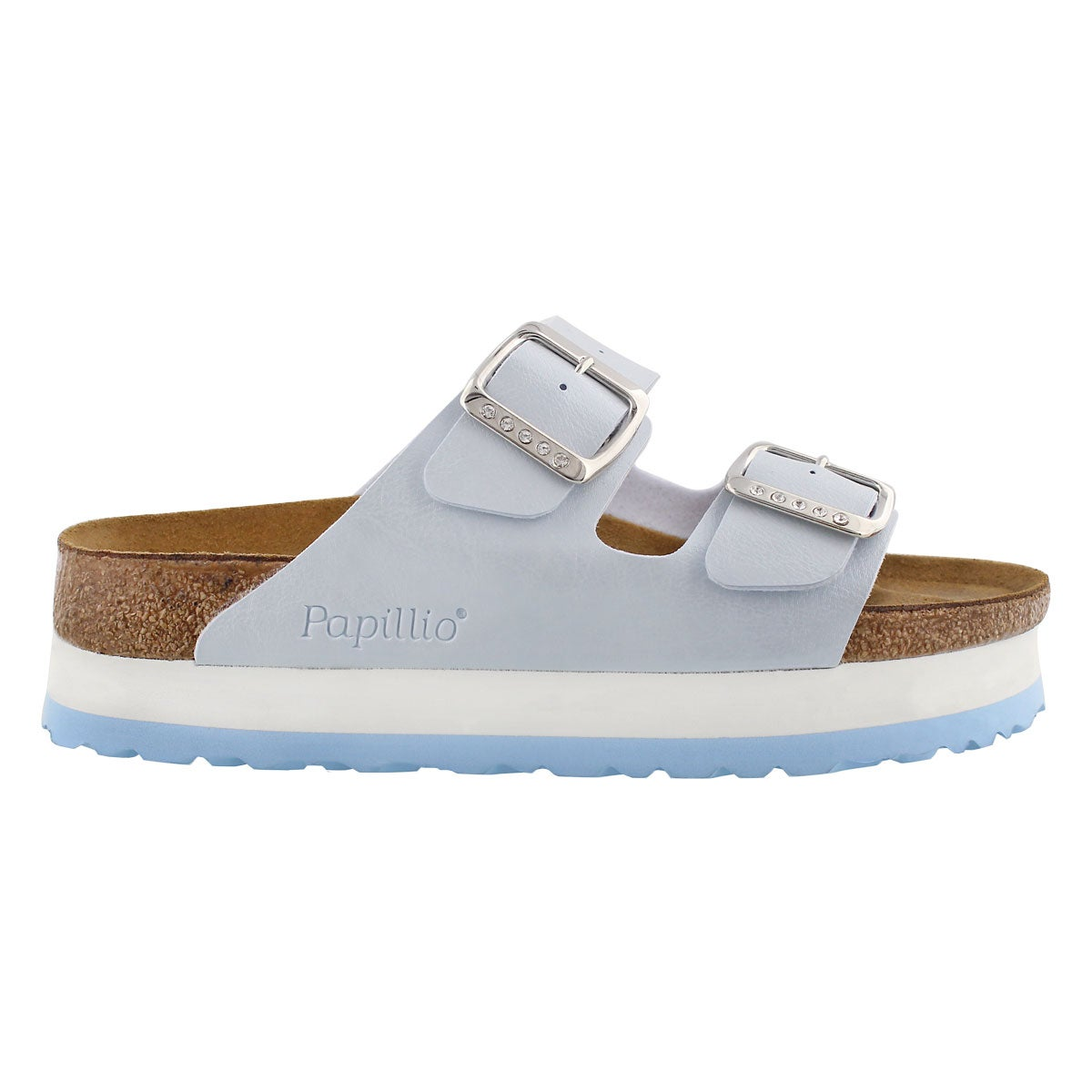 Lds Arizona blue platform sandal-Narrow