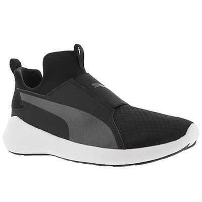 Lds Puma Rebel Mid blk/wht sneaker