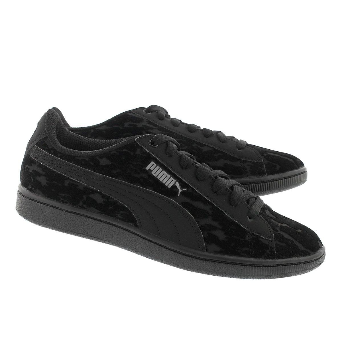 Lds Vikky Velvet Rope blk/blk sneaker