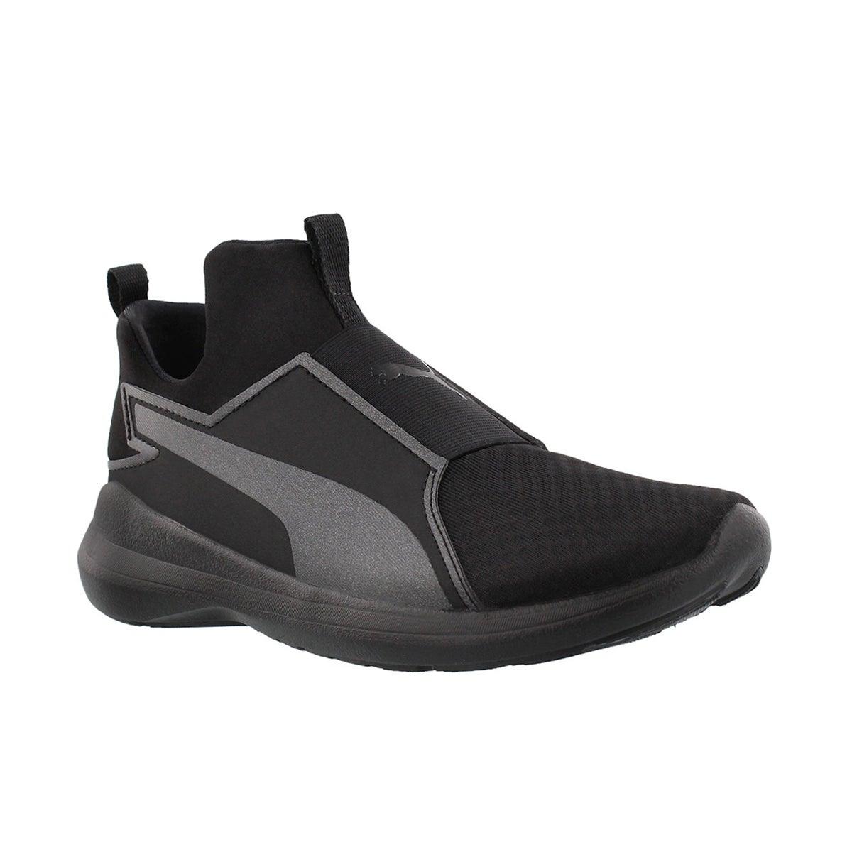 Boys' REBEL MID JR black slipon sneakers