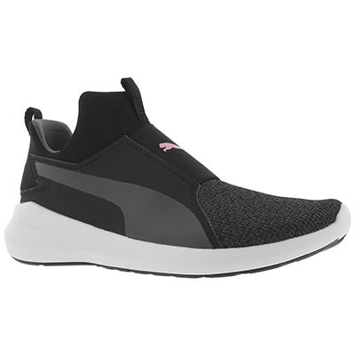 Lds Puma Rebel Mid Knit black sneaker