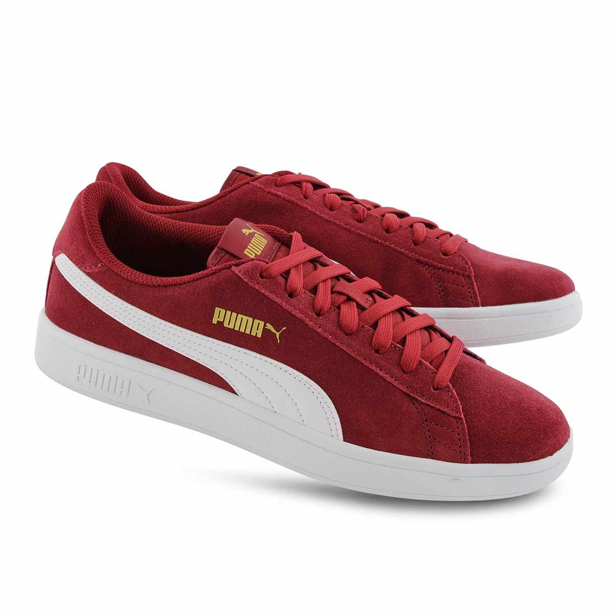 Mns Puma Smash v2 rhubarb/wht sneaker