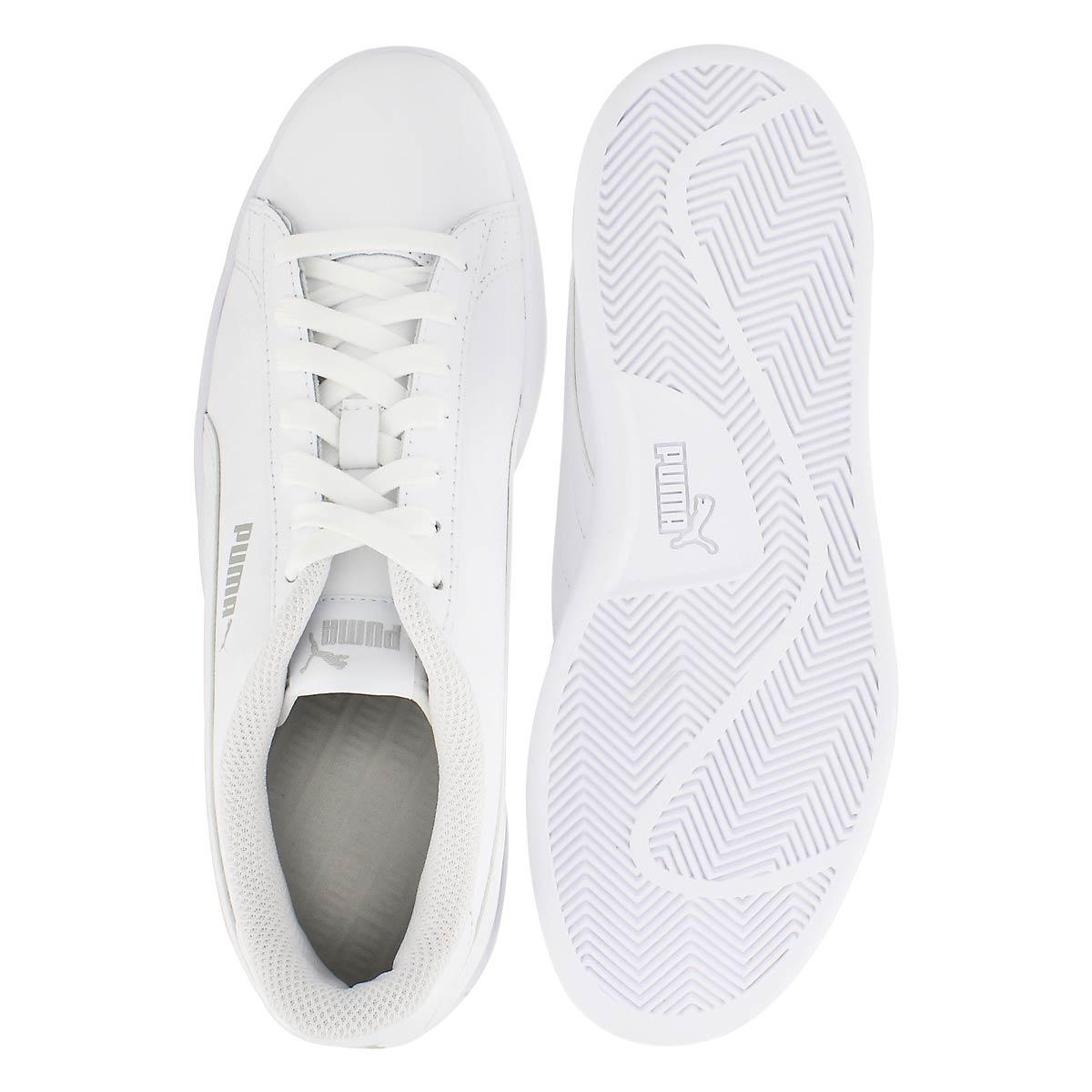 Mns Puma Smash v2 wht/wht lthr sneaker
