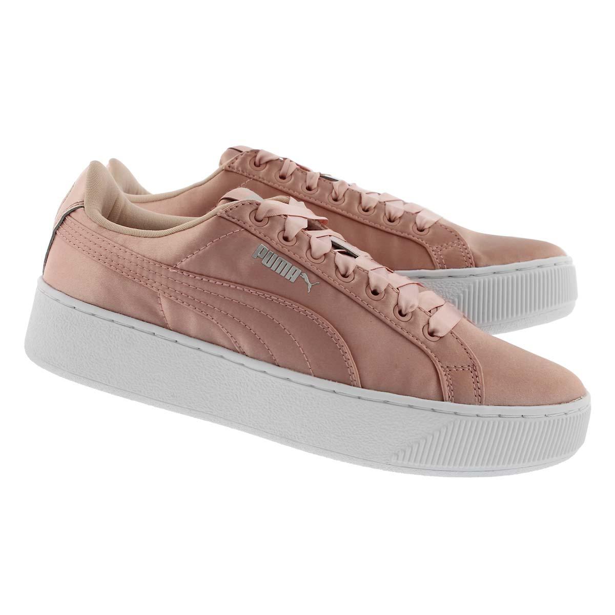 Lds Puma Vikky Platform peach sneaker
