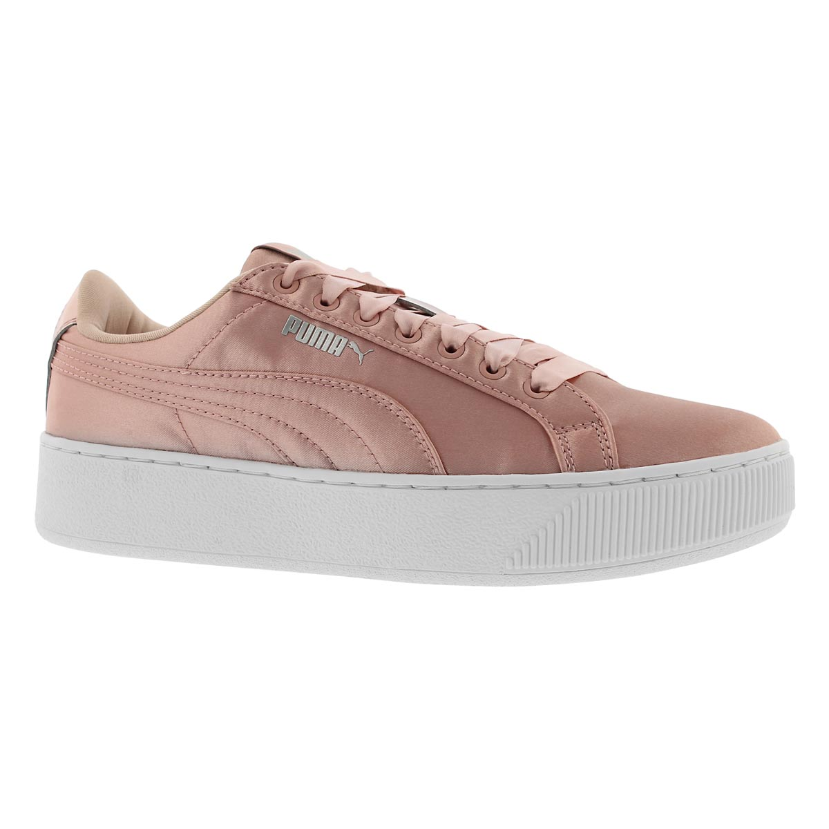 Women's PUMA VIKKY PLATFORM peach sneakers