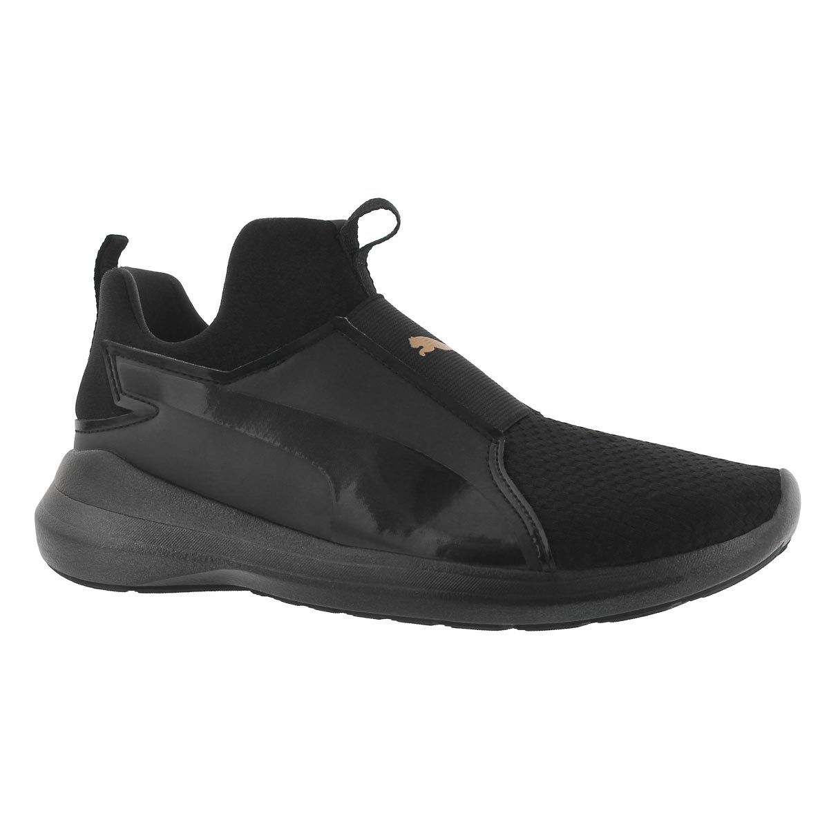 Women's PUMA REBEL MID black sneakers