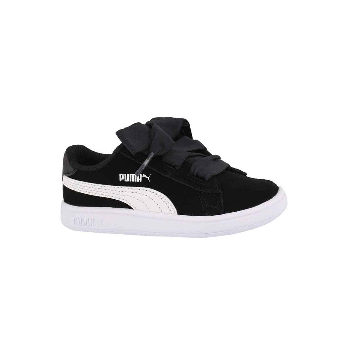 Infants' PUMA SMASH V2 RIBBON black/white sneakers