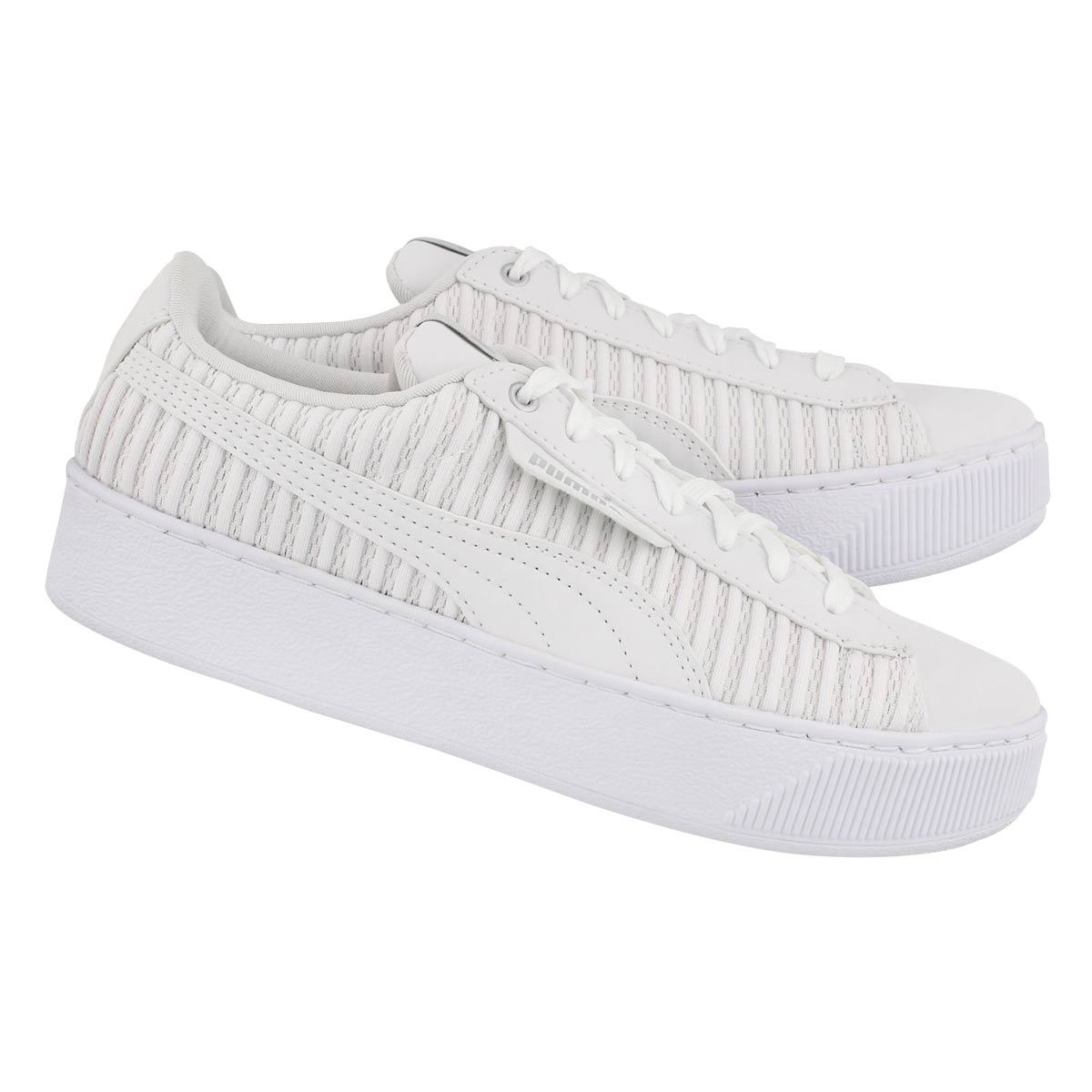 Lds Puma Vikky Platform wht/wht sneaker