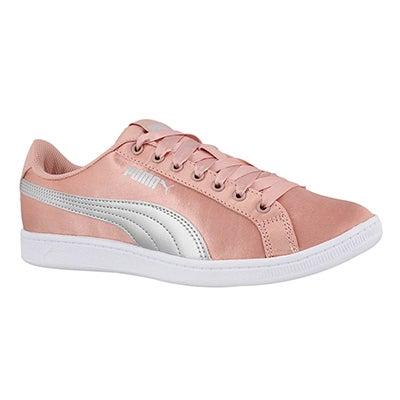 Lds Puma Vikky peach/silver sneaker