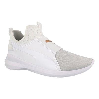 Lds Puma Rebel Mid white sneaker