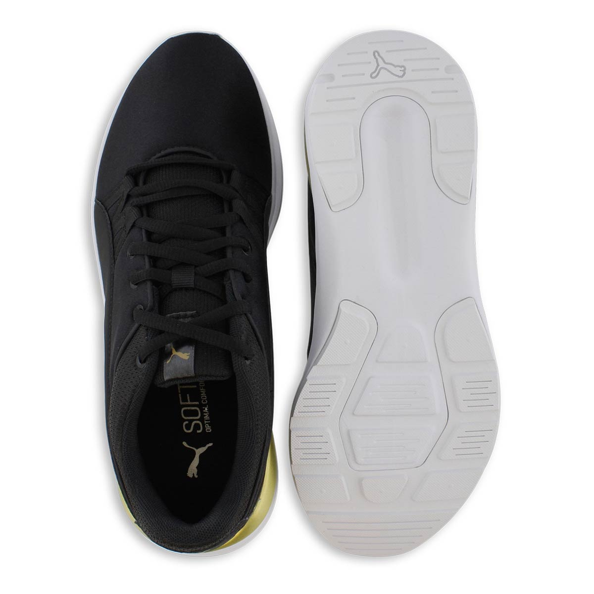 Lds Adela black lace up sneaker