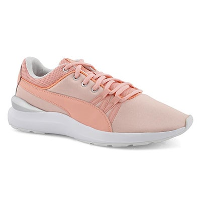 Lds Adela peach lace up sneaker