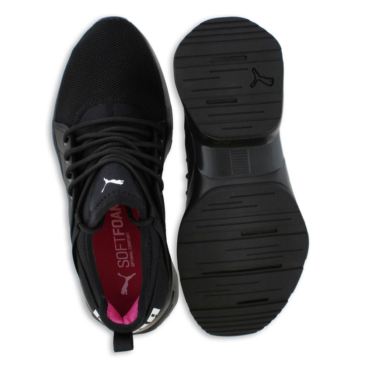 Lds Sirena black lace up sneaker